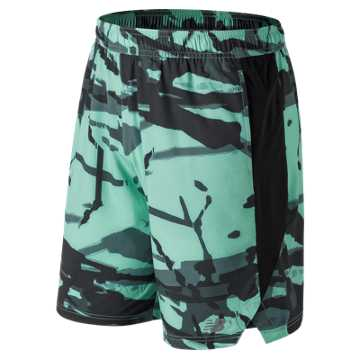 New Balance Printed Tenacity Woven Short, Light Tidepool