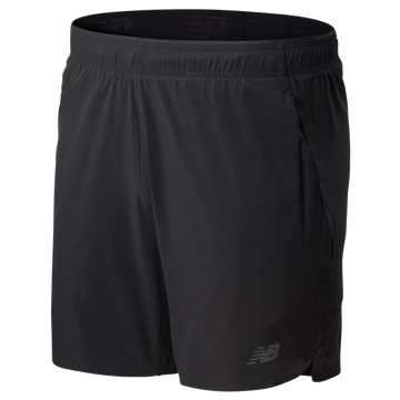 New Balance 7 Inch  2 In 1 Short, Black