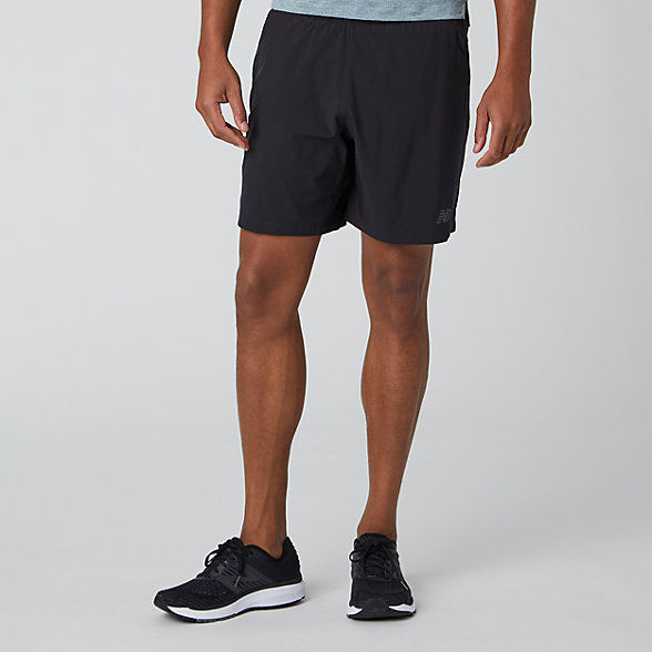 New Balance 7 Inch  2 In 1 Short, MS91150BK