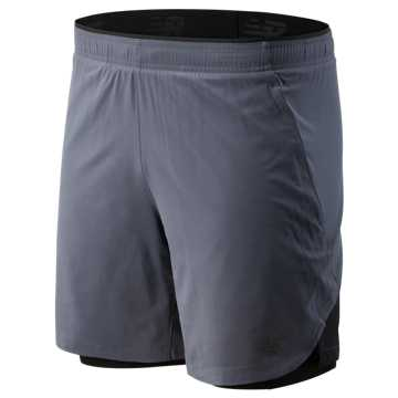 New Balance 7 Inch  2 In 1 Short, Lead