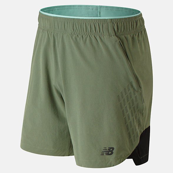 New Balance 7 Inch  2 In 1 Short, MS91150MGN
