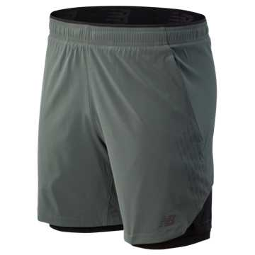 New Balance 7 Inch  2 In 1 Short, Slate Green