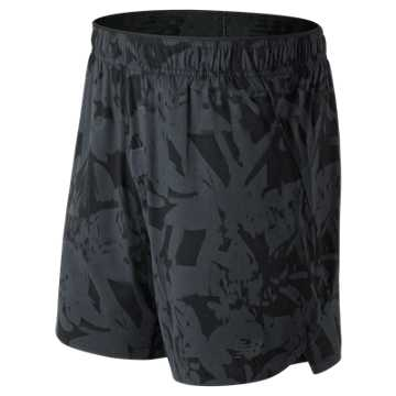 New Balance Printed 7 Inch  2 in 1 Short, Black Multi