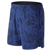 New Balance Short 2 en 1 imprimé 18 cm, Bleu UV