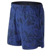 New Balance Short 2 en 1 imprimé 18 cm, Bleu UV