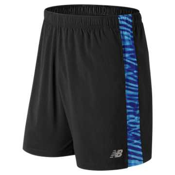 New Balance Printed Accelerate 7 Inch  Short, Light Cobalt
