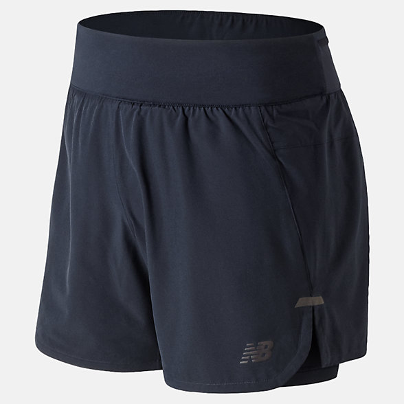 New Balance Short 2 en 1 Q Speed Shadow, MS91236ECL