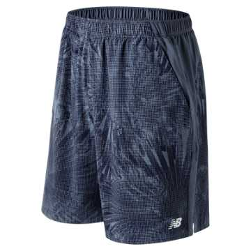 New Balance 9 Inch Printed Rally Short, Vintage Indigo