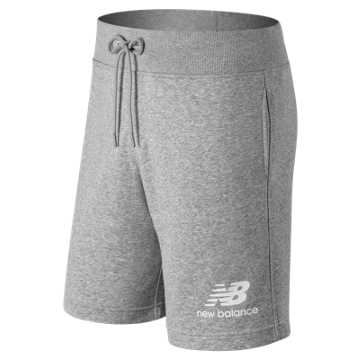 New Balance Essentials Stacked Logo Short, Athletic Grey