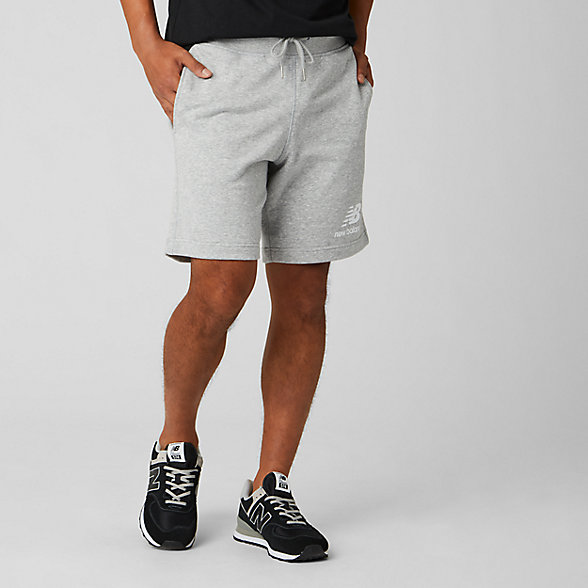 NB Short Essentials Stacked Logo, MS91584AG