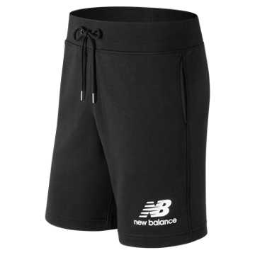 New Balance Essentials Stacked Logo Short, Black