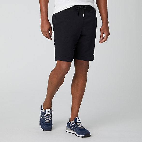 NB Essentials Stacked Logo Short, MS91584BK