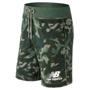 New Balance Essentials Stacked Logo Short, Mineral Green