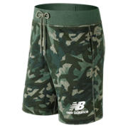 NB Essentials Stacked Logo Short, Mineral Green