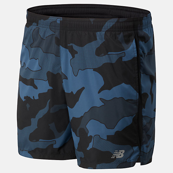 New Balance Printed Accelerate 5 In Short, MS93188BSL