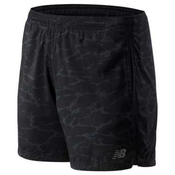 New Balance Printed Accelerate 5 In Short, Black Camo with Grey