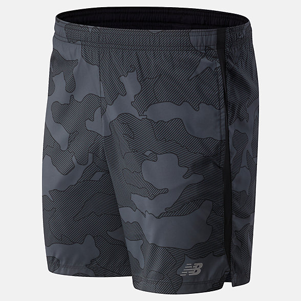 New Balance Printed Accelerate 7 In Short, MS93190BKW