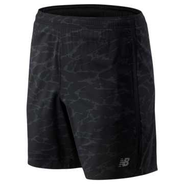 New Balance Printed Accelerate 7 In Short, Black Camo with Grey