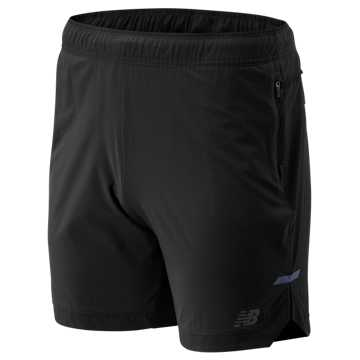 New Balance Q Speed Run Crew Short, Black