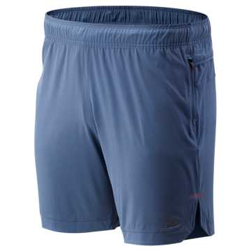 New Balance Q Speed Run Crew Short, Chambray