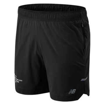 New Balance NYC Marathon 7 IN Q Speed Run Crew Short, Black
