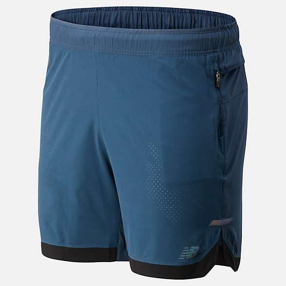 New Balance Q Speed Run Crew Short, MS93253SNB