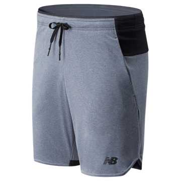 New Balance NB Basketball Finisher 9 In Short, Athletic Grey with Black & White