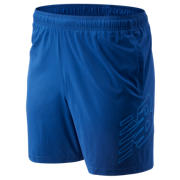 New Balance Core 7 In Logo Short, Andromeda Blue