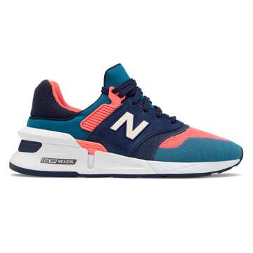 New Balance 997 Sport, Guava with Dark Neptune