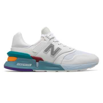 New Balance 997 Sport, White with Amazonite