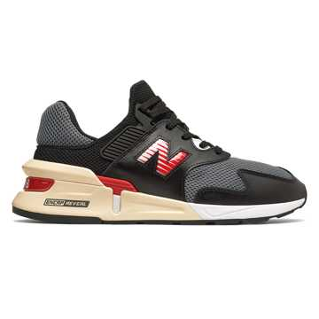 New Balance 997 Sport, Black with Red