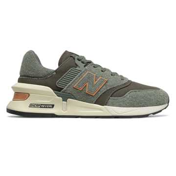 New Balance 997 Sport, Slate Green with Camo Green