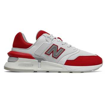 New Balance 997 Sport, Munsell White with Team Red
