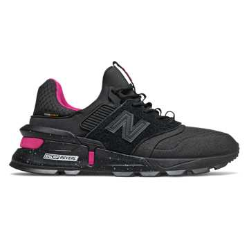 New Balance 997 Sport, Black with Pink
