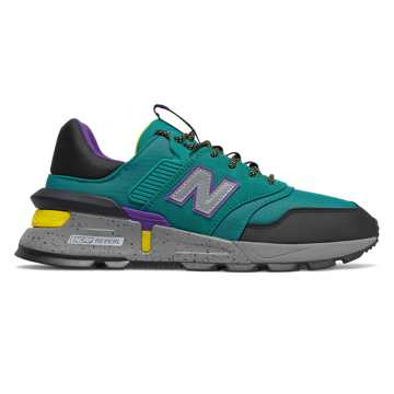 New Balance 997 Sport, Team Teal with Black & Yellow