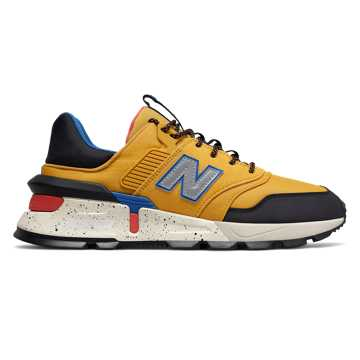New Balance 997 Sport, Varsity Gold with Black & Neo Classic Blue
