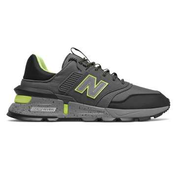 New Balance 997 Sport, Castlerock with Black & Lemon Slush