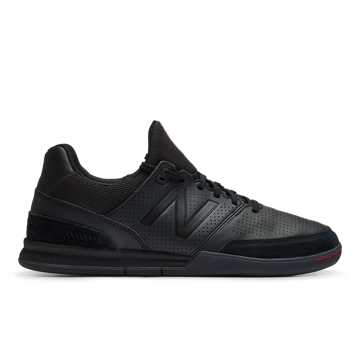 New Balance Audazo v4 Pro Leather IN, Black with Black Caviar & Red