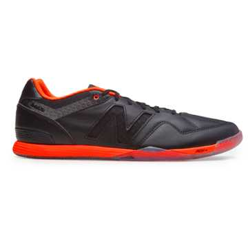 New Balance Audazo Pro Leather IN, Black with Alpha Orange