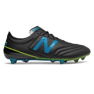 New Balance Furon 3.0 K-Leather FG, Black with Maldives Blue & Hi-Lite