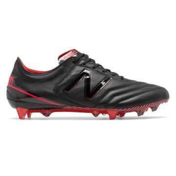 New Balance Furon 3.0 K-Leather FG, Black with Energy Red
