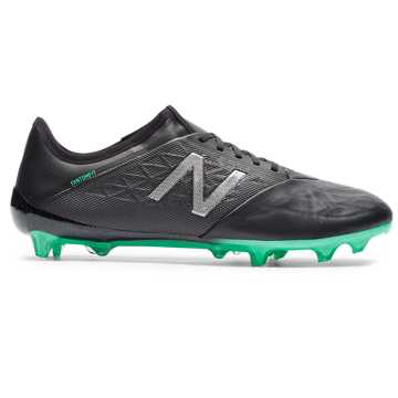 New Balance Furon v5 Pro Leather FG, Neon Emerald with Black & Silver