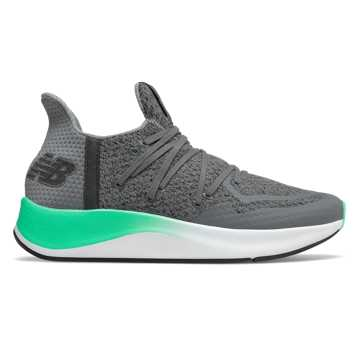New Balance Cypher Run v2, Castlerock with Neon Emerald