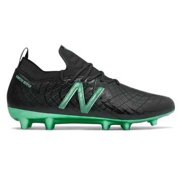 New Balance Tekela Pro Leather FG, Black with Neon Emerald Chrome