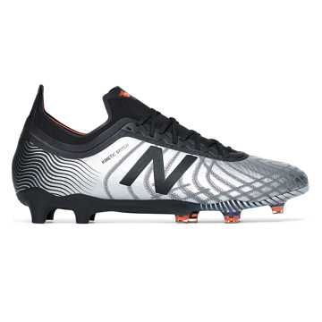 New Balance Tekela v2 Limited Edition FG, Silver with Black & Alpha Orange