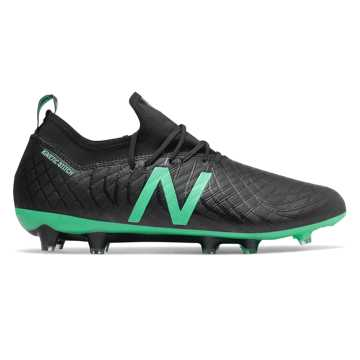 New Balance Tekela Magia FG, Black with Neon Emerald