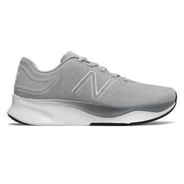 New Balance 男款舒适缓震跑步运动鞋, 浅灰色