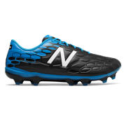 New Balance Visaro 2.0 Mid Level FG, Black with Bolt & Energy Red
