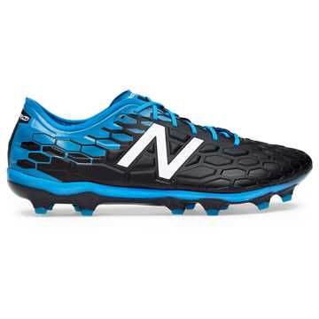 New Balance Visaro 2.0 Pro FG, Black with Bolt & Energy Red