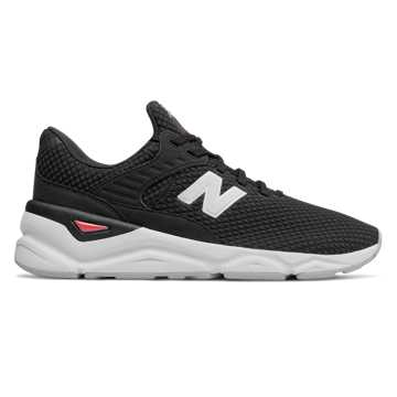 New Balance X90系列男女同款復古休閑運動鞋, 黑色